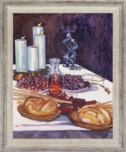 Wall Frame Silver Flat - Communion by L. Williams
