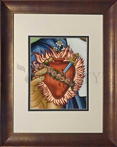Wall Frame Double Mat Gold - Immaculate Heart of Mary by L. Williams