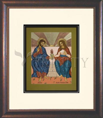 Wall Frame Double Mat Gold - Jesus and Mary Magdalene by L. Williams