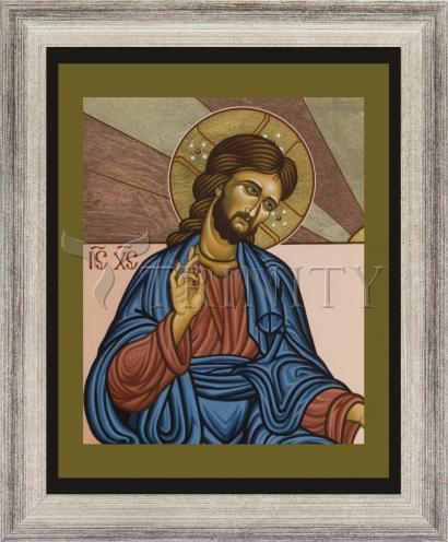 Wall Frame Silver Flat - Jesus of Nazareth by L. Williams