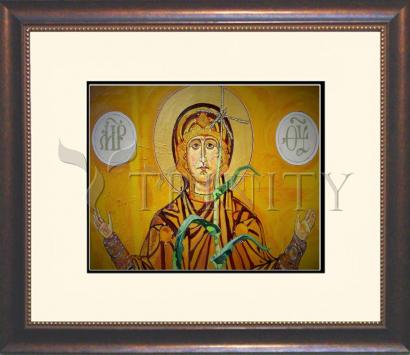 Wall Frame Double Mat Gold - Our Lady of the Harvest by L. Williams