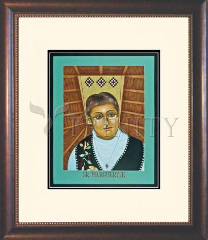 Wall Frame Double Mat Gold - Sr. Marguerite Bartz by L. Williams