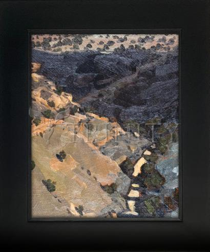 Wall Frame Black Flat - Morning Sun In Cold Wash by L. Williams