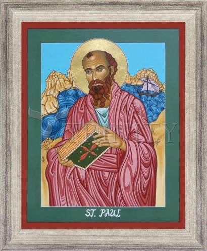 Wall Frame Silver Flat - St. Paul of the Shipwreck by L. Williams