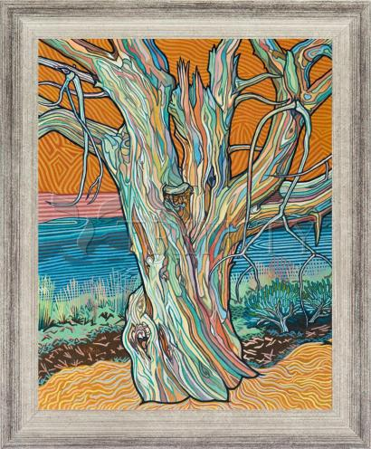 Wall Frame Silver Flat - Psalm 1:3 by L. Williams