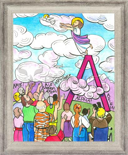 Wall Frame Silver Flat - All Apostles At Ascension by M. McGrath