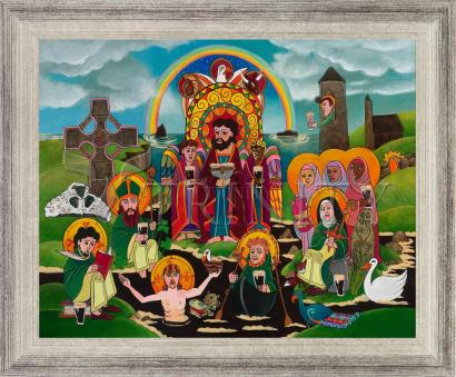 Wall Frame Silver Flat - St. Brigid's Lake of Beer by M. McGrath