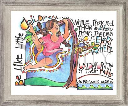 Wall Frame Silver Flat - Be Like Little Children 3 by M. McGrath