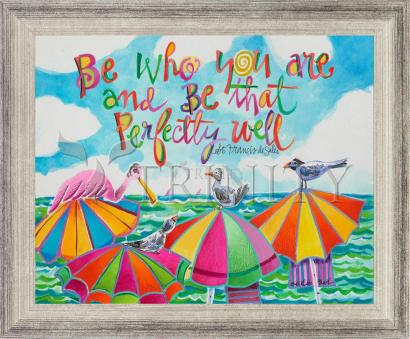 Wall Frame Silver Flat - Be Who You Are by M. McGrath