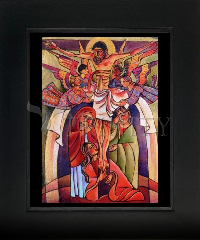 Wall Frame Gold Scoop - Crucifixion by M. McGrath