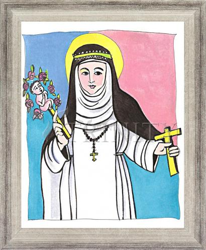 Wall Frame Silver Flat - St. Catherine of Siena by M. McGrath