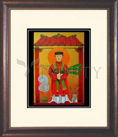 Wall Frame Double Mat Gold - St. Andrew Dung-Lac by M. McGrath