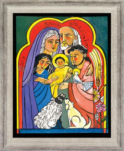 Wall Frame Silver Flat - Extended Holy Family by M. McGrath