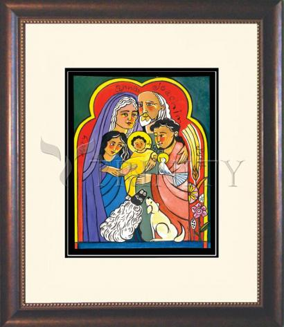 Wall Frame Double Mat Gold - Extended Holy Family by M. McGrath