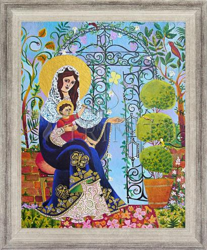 Wall Frame Silver Flat - Mary, Gate of Heaven by M. McGrath