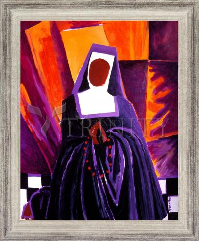 Wall Frame Silver Flat - Sr. Thea Bowman: Give Me That Old Time Religion by M. McGrath