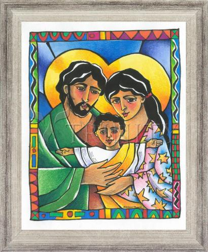 Wall Frame Silver Flat - Holy Family by M. McGrath