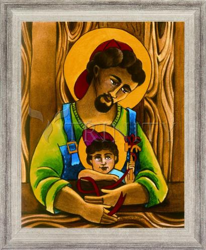 Wall Frame Silver Flat - St. Joseph and Son by M. McGrath