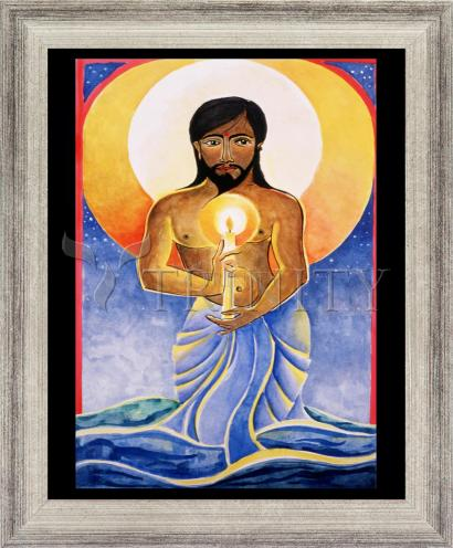 Wall Frame Silver Flat - Jesus: Light of the World by M. McGrath