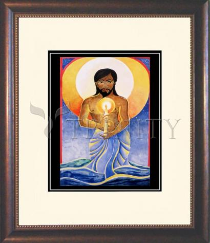 Wall Frame Double Mat Gold - Jesus: Light of the World by M. McGrath