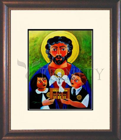 Wall Frame Double Mat Gold - St. Luke the Evangelist by M. McGrath