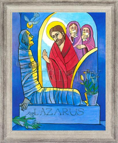 Wall Frame Silver Flat - St. Lazarus by M. McGrath