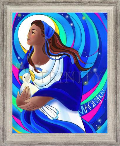 Wall Frame Silver Flat - Magnificat by M. McGrath