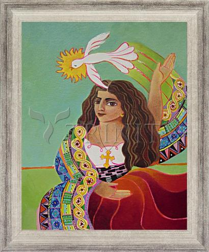 Wall Frame Silver Flat - St. Mary Magdalene and Holy Spirit by M. McGrath