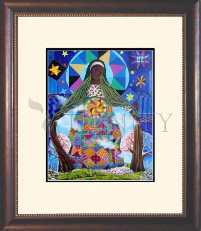 Wall Frame Double Mat Gold - Mary, Our Lady of Refuge by M. McGrath