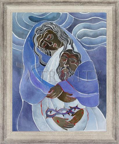 Wall Frame Silver Flat - Mary, Mother of Sorrows by M. McGrath