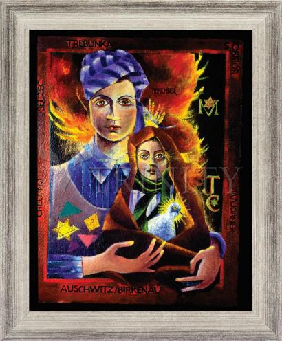 Wall Frame Silver Flat - Madonna of the Holocaust by M. McGrath