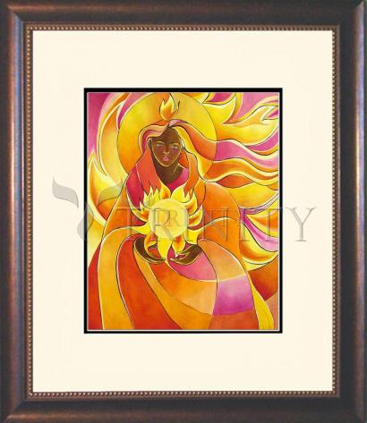 Wall Frame Double Mat Gold - Mary, Our Lady of Light by M. McGrath