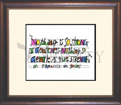 Wall Frame Double Mat Gold - Nothing Is So Strong As Gentleness by M. McGrath