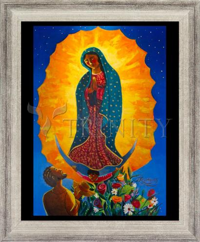 Wall Frame Silver Flat - Our Lady of Guadalupe by M. McGrath