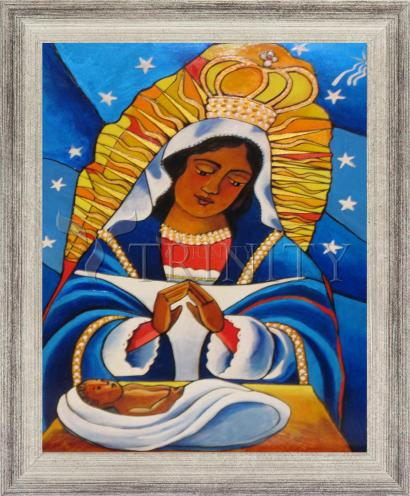 Wall Frame Silver Flat - Our Lady of Altagracia by M. McGrath