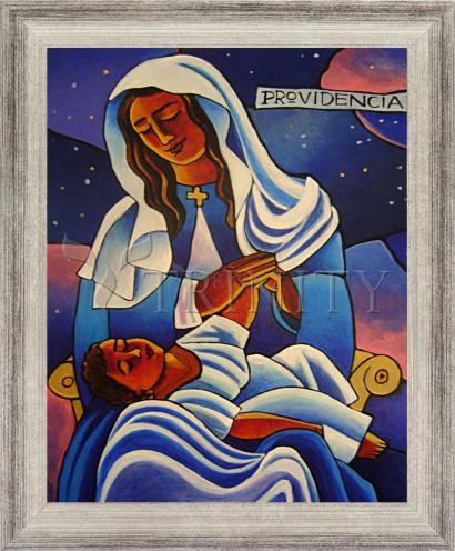 Wall Frame Silver Flat - Our Lady of the Divine Providence by M. McGrath