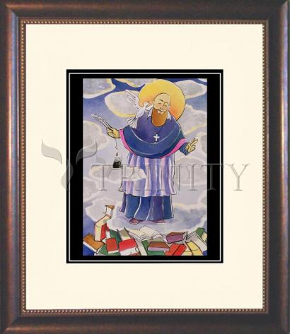 Wall Frame Double Mat Gold - St. Francis de Sales, Patron of Writers by M. McGrath