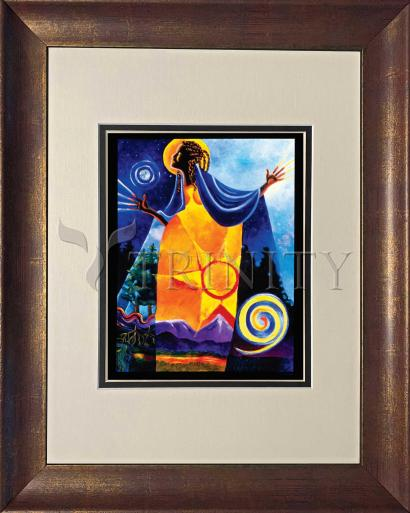 Wall Frame Double Mat Gold - Queen of Heaven, Mother of Earth by M. McGrath