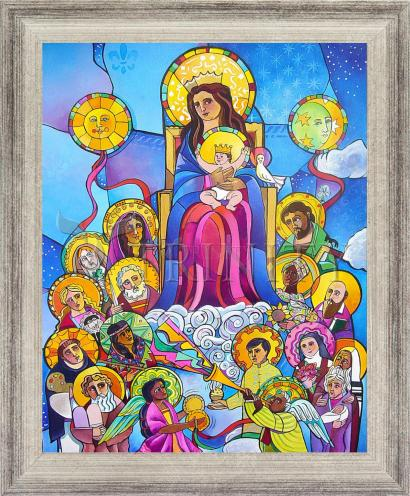 Wall Frame Silver Flat - Mary, Queen of the Saints by M. McGrath