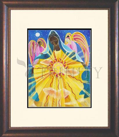Wall Frame Double Mat Gold - Mary, Queen of the Universe by M. McGrath