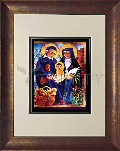 Wall Frame Double Mat Gold - Sts. Vincent and Louise by M. McGrath