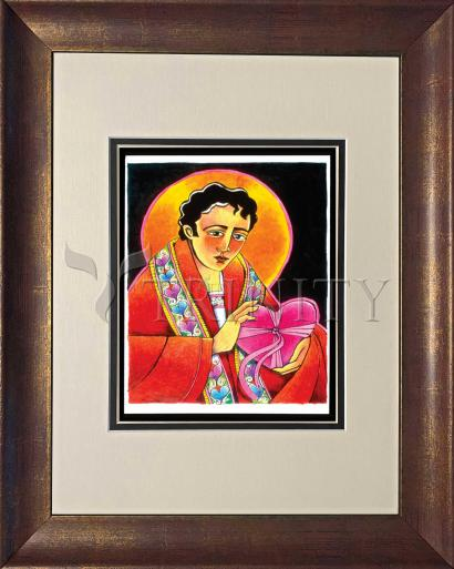 Wall Frame Double Mat Gold - St. Valentine by M. McGrath