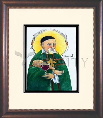 Wall Frame Double Mat Gold - St. Vincent de Paul by M. McGrath