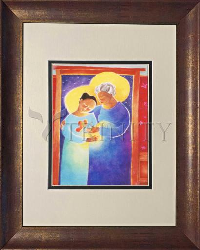 Wall Frame Double Mat Gold - Visitation - Doorway by M. McGrath