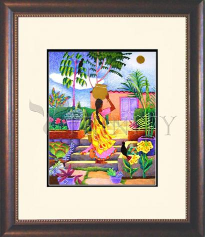 Wall Frame Double Mat Gold - Woman at the Well by M. McGrath