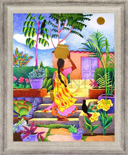 Wall Frame Silver Flat - Woman at the Well by M. McGrath