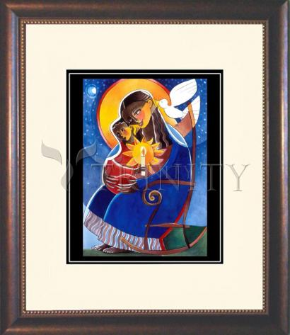 Wall Frame Double Mat Gold - Mary, Seat of Wisdom by M. McGrath