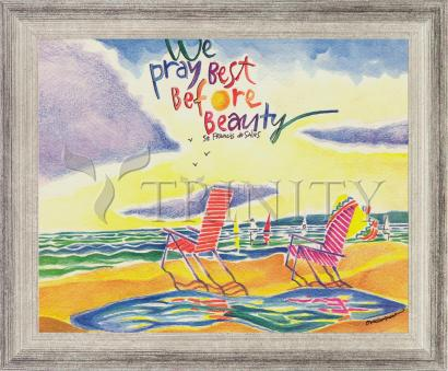 Wall Frame Silver Flat - We Pray Best Before Beauty by M. McGrath