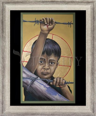 Wall Frame Silver Flat - Christ the Dreamer by M. Reyes