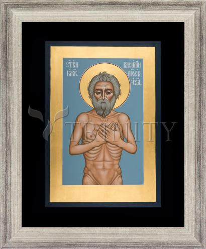 Wall Frame Silver Flat - St. Basil the Blessed of Moscow by R. Lentz